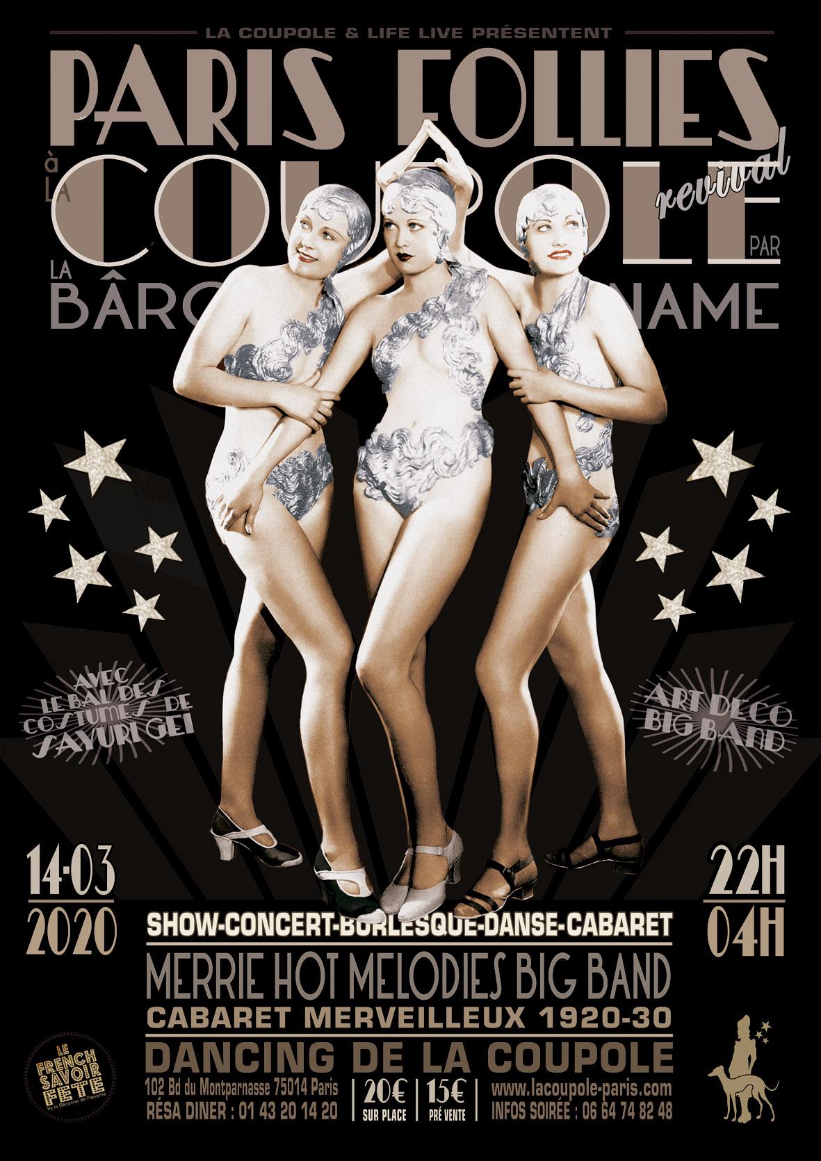 ★ DANCING DE LA COUPOLE : PARIS FOLLIES REVIVAL ★