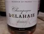 Photo Champagne Brut Delahaie Rosé - Clémentine, Terrasse du Quartier Bourse - Maître Restaurateur