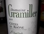 Photo Côtes du Rhône Blanc 2019 Domaine Gramiller - Clémentine, Terrasse du Quartier Bourse - Maître Restaurateur
