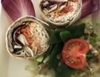 Photo Wrap végétal : crémeux de tapenade et petits légumes croquants - Le Bistrot d'Alex