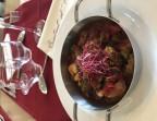 Photo Rougail de saucisse à la Catalane, cèbes, alubias, piquillos, olives - Le Bistrot d'Alex