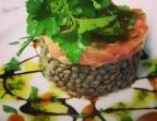 Photo Tartare de saumon sur son nid de lentilles vertes Du Puy - L'Orangerie Paris
