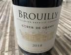 Photo Brouilly, Coeur de granit, 2018, AOC - TOIT POUR TOI, restaurant Christine et Didier COZZOLINO