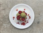 Photo Cajou'Cake Framboise & Thé Vert Matcha - SOYA CANTINE BIO