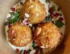 Photo Croquettes de poulet à la menthe, houmous au citron - LA VERAISON