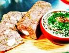 Photo Terrine de queue de bœuf aux câpres et cornichons, salade de lentilles à l'estragon - CHEZ MICHEL