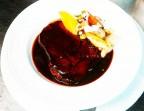 Photo Langue de bœuf à l'ancienne, sauce demi-glace, polenta crémeux et légumes  - CHEZ MICHEL
