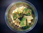 Photo Gravlax de saumon Bio à l'aneth, perles de tapioca aux fenouils. - Le stras'
