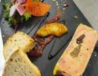 Photo Foie gras mi-cuit, pomme confit au miel et jambon Serrano         - Chez fred