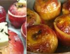 Photo Pomme fruit rôtie au four à la  truffe noire de Richerenches, Crème épaisse  - Auberge Pyrénées Cévennes