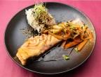 Photo Saumon teriyaki légumes et riz blanc - YUKI