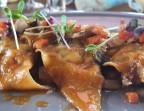 Photo Crevettes à la coriandre en ravioles maison, chutney de légumes, sucs épicés - Resto-Spa by Carré Zen